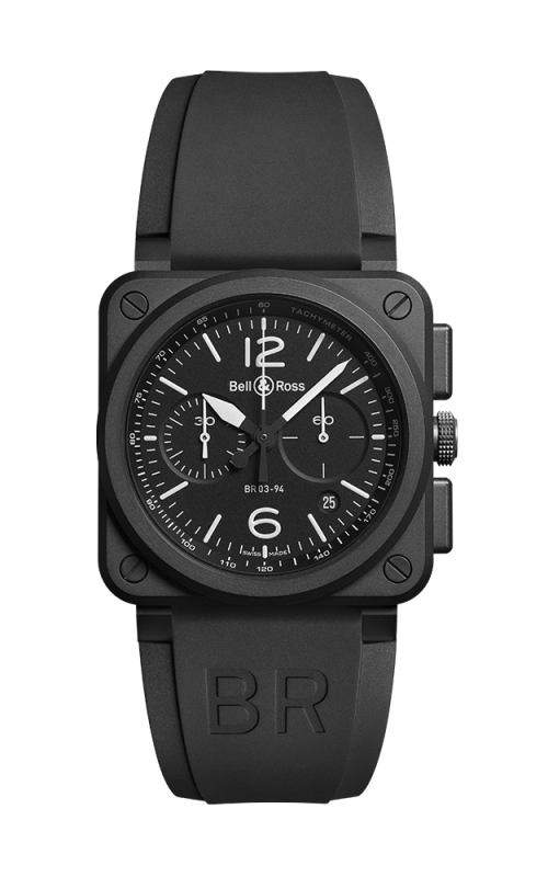 Bell and Ross BR 03-94 Chronographe Watch BR03-94 Black Matte Ceramic product image